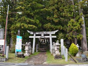 夏井諏訪神社の鳥居