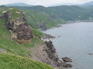積丹半島の海