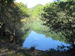 池に映る山
