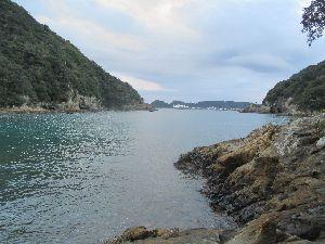 勝浦温泉の海