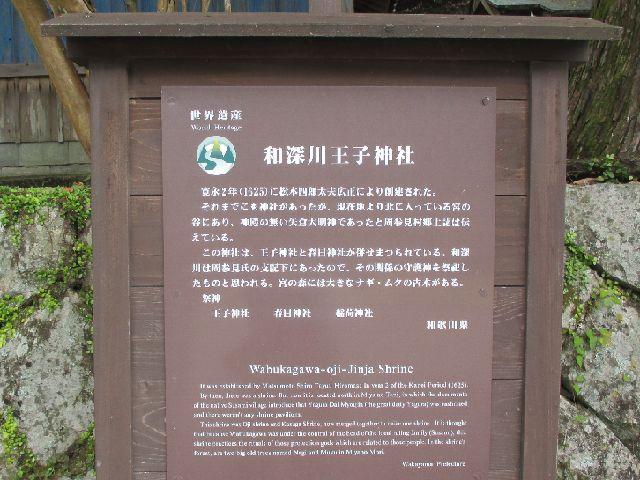 和深川王子神社 案内板