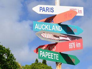 主要都市までの距離標識