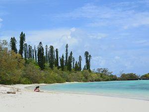 ブラウ島のビーチ