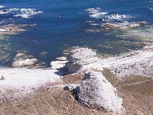 石灰石の岩